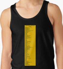 Library Sign - Nippon Decimal Classification System Tank Top