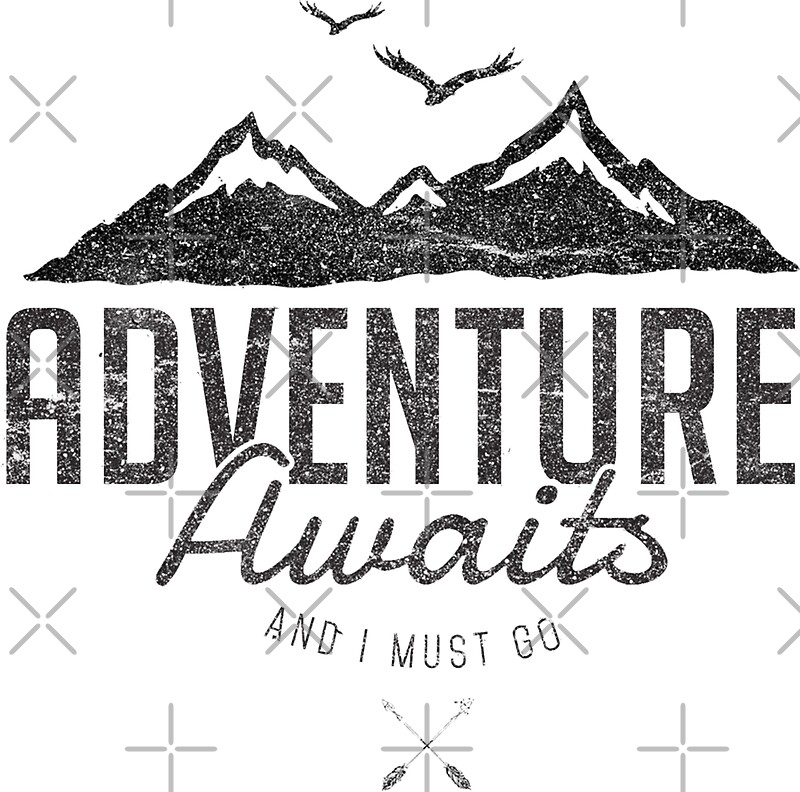 """ADVENTURE AWAITS"" Stickers by Magdalena Mikos"
