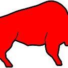 «Esbozo de búfalo rojo» de Statepallets