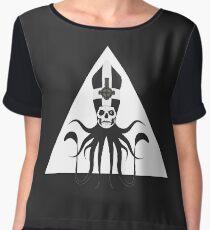 Ghost Squid Pyramid (white) Chiffon Top
