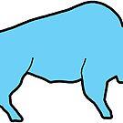 «Blue Bison Buffalo esquema» de Statepallets