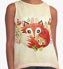 Fox Mom & Pup Contrast Tank