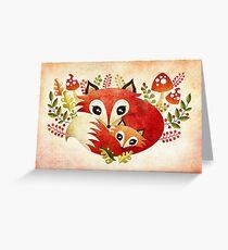 Fox Mom & Pup Greeting Card