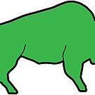 «Esquema de búfalo verde Bison» de Statepallets