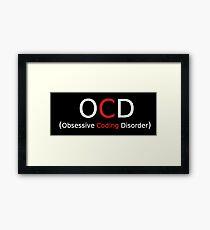 Coding disorder Framed Print