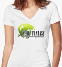 Xeno Fantasy Women's Fitted V-Neck T-Shirt