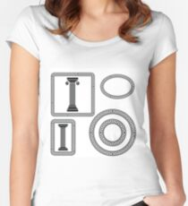 greek symbols Women's Fitted Scoop T-Shirt