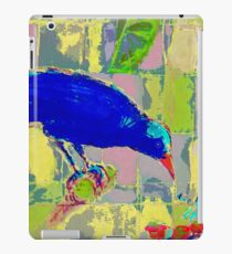 Blue Bird and insect. iPad Case/Skin