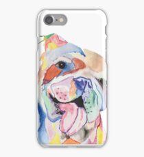 Bulldog Watercolor Pet Portrait iPhone Case/Skin