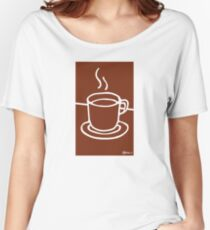 Coffee Cup - Hand Drawn Goodness Women's Relaxed Fit T-Shirt