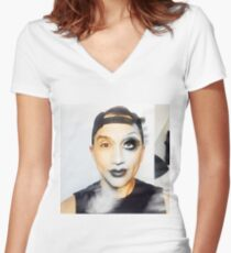bianca del rio / roy  Women's Fitted V-Neck T-Shirt
