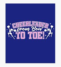 Cheerleader From Bow To Toe Photographic Print