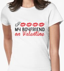 I kiss my boyfriend on Valentine T-Shirt