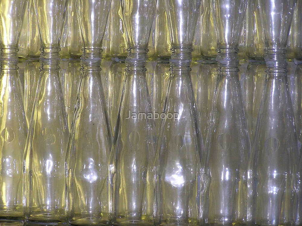 Bottle wall by Jamaboop