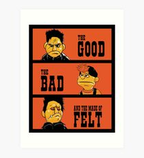 Angel - The Good, the bad, and the made of felt Art Print