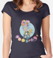 another famous unibrow Women's Fitted Scoop T-Shirt