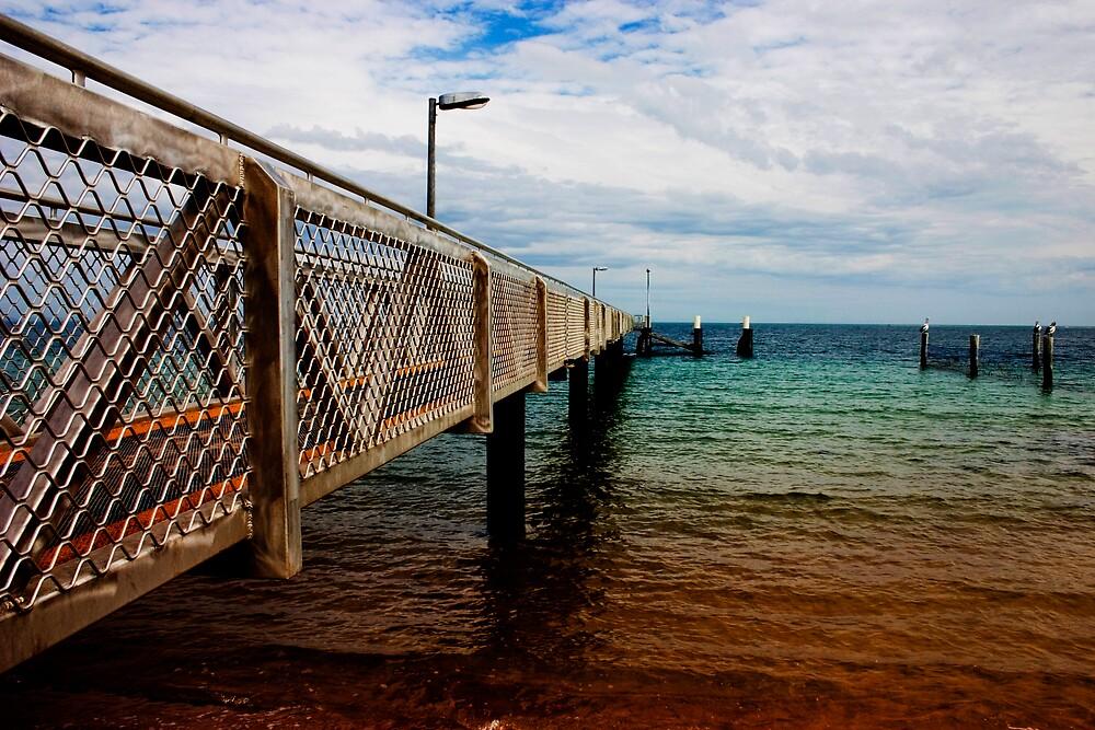 North Stradbroke Island Pier by Alecia Scott