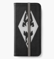 Skyrim Worn Black Leather iPhone Wallet/Case/Skin