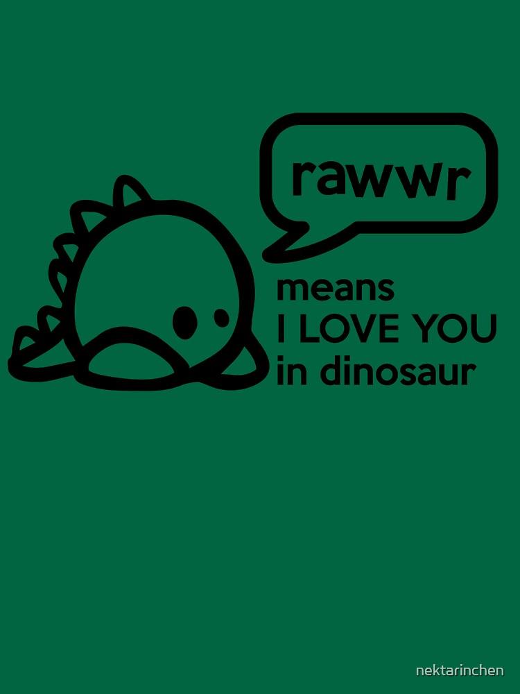 RAWWR - means I love you in dinosaur von nektarinchen