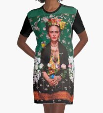 Wings to Fly Frida  Graphic T-Shirt Dress