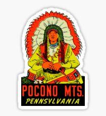 Pocono Mountains Pennsylvania Vintage Travel Decal Sticker