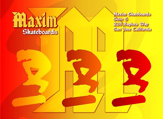 Maxim Skateboards Advertisement by reflector