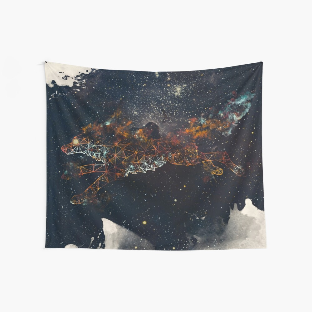 Celestial Wolf Wall Tapestry