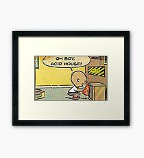 CHARLIE BROWN OH BOY ACID HOUSE Framed Print