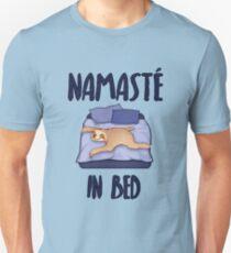 Namaste in Bed Lazy Sloth  Unisex T-Shirt