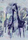 Giraffen und Bäume von Marianna Tankelevich