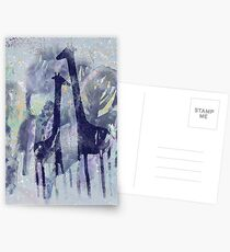 giraffes and trees Greeting Card