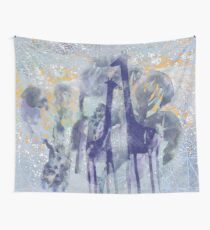giraffes and trees Wall Tapestry