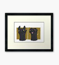 Toothless Blep Framed Print