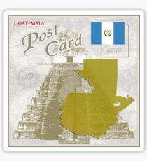 Guatemala Curio Post Card Sticker