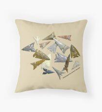 Temblor Chert Arrowheads Throw Pillow