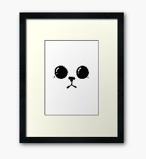 Panda Eyes Framed Print