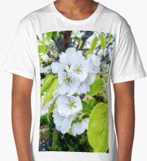 Apple Blossoms After Snow Long T-Shirt