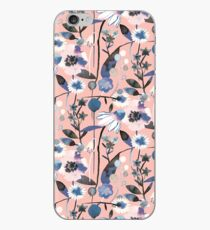 Pink pastel flowers pattern iPhone Case