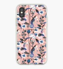 Rosa Pastell Blumen Muster iPhone-Hülle & Cover