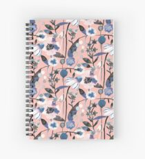 Pink pastel flowers pattern Spiral Notebook