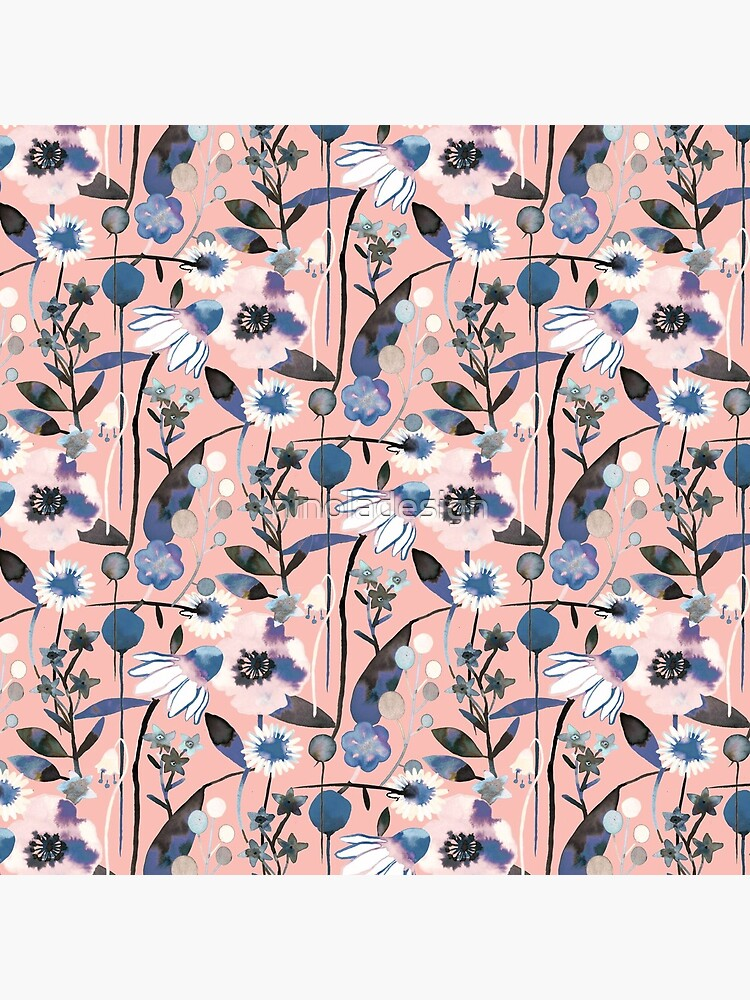 Pink pastel flowers pattern by ninoladesign