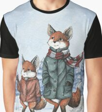 Foxes in the Snow Graphic T-Shirt