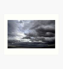 Late Afternoon Storm Clouds Art Print