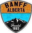 SKI BANFF ALBERTA CANADA Skiing Mountain Mountains Snowboard Hiking Nature  by MyHandmadeSigns