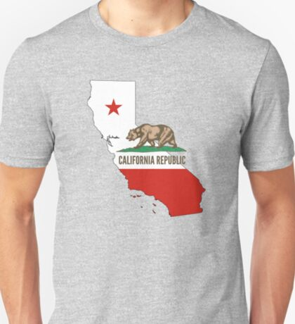 California State Flag and Outline T-Shirt