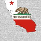 California State Flag and Outline by HandDrawnTees