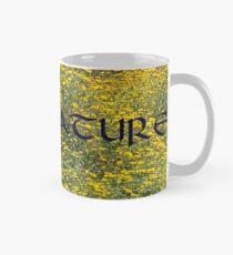 I LOVE NATURE (blue on yellow, long) Mug