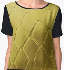 Gold Snake Scales Chiffon Top