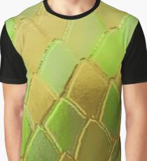 Green & Gold Snake Scales Graphic T-Shirt