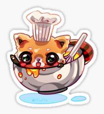 Chef Red Panda Sticker